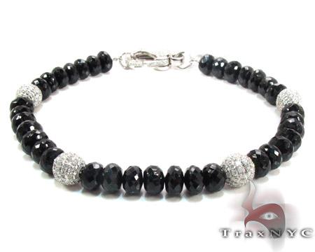 Black and White Diamond Bracelet Mens Diamond Bracelet White