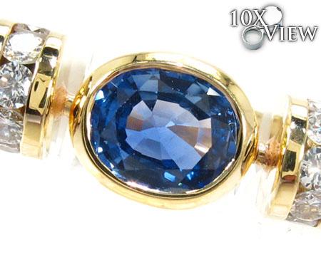 Blue Angel Wings Diamond Ring Anniversary/Fashion