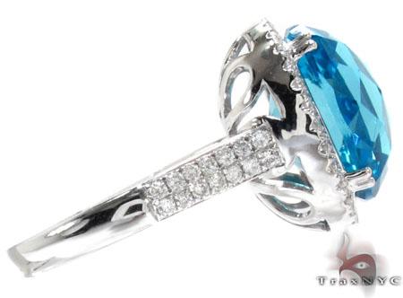 Topaz & Diamond Ring Anniversary/Fashion