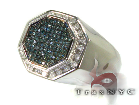 Blue Octagon Ring Stone