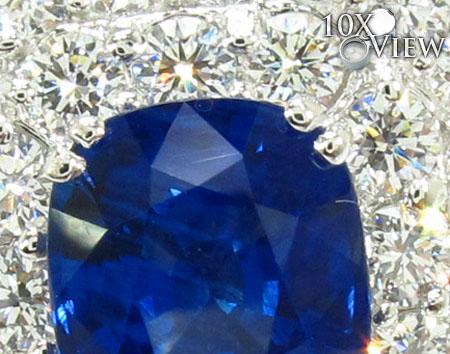 cushion cut Sapphire & Diamond Ring 31550 Anniversary/Fashion