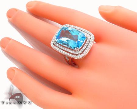 Blue Topaz Diamond Ring 31546 Anniversary/Fashion