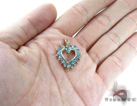 Blue Topaz Heart Pendant Style