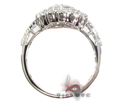 18K White Gold & Diamond Bouquet Ring Anniversary/Fashion