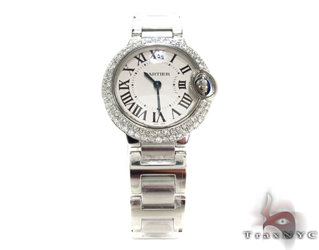 Brand New Cartier Ballon Bleu 36mm Size Diamond Watch Cartier