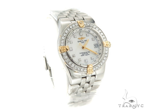 Breitling Chronometre Diamond Watch 44450 Breitling