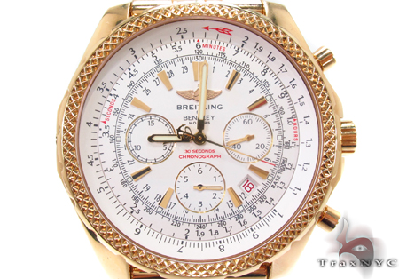 Breitling Motors Bentley GMT Yellow Gold Watch Breitling