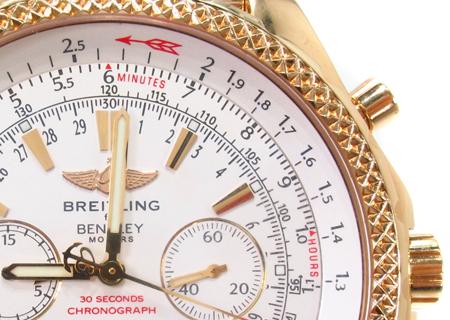 Breitling Motors Bentley GMT Yellow Gold Watch Breitling