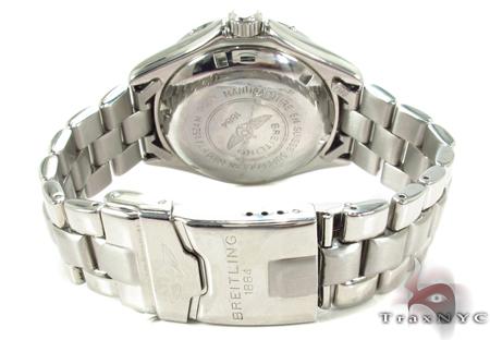 Breitling Superocean Diamond Watch Light Blue Breitling