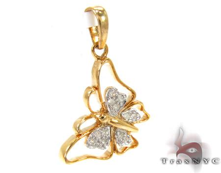 Butterfly Silver Diamond Pendant 27477 Metal