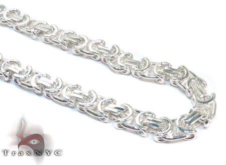 Byzantine Silver n 26 Inches 8mm 85.0 Grams Silver