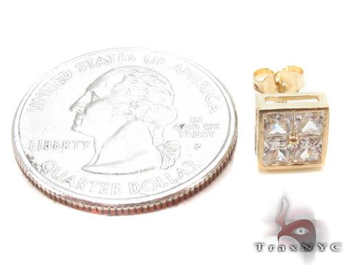 CZ 10K Gold Earrings 33238 Metal