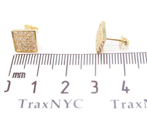 CZ 10K Gold Earrings 34239 Metal