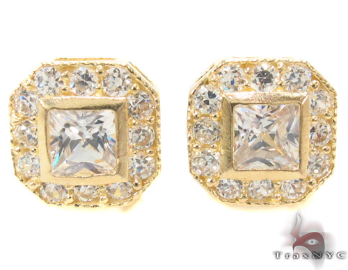 CZ 10K Gold Earrings 33242 Metal