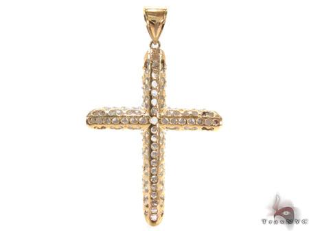 CZ 10K Gold Cross 33639 Gold