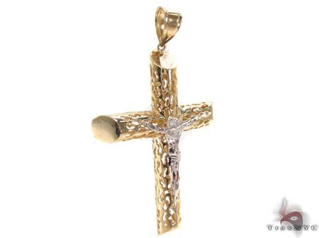CZ 10K Gold Cross 33642 Gold