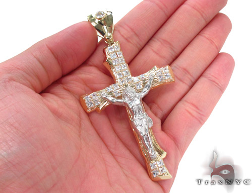 CZ 10K Gold Cross 34060 Gold
