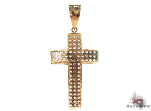 CZ 10K Gold Cross 34065 Gold