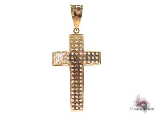 CZ 10K Gold Cross 34065 Gold