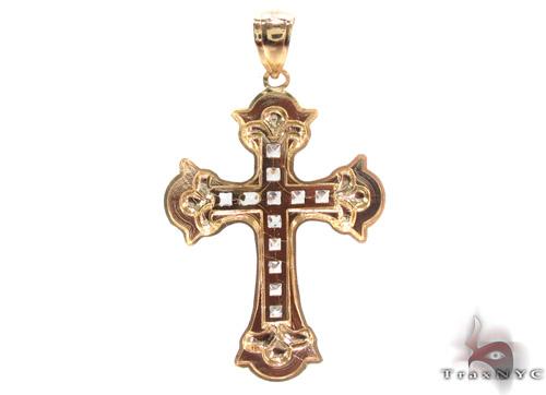 CZ 10K Gold Cross 34084 Gold