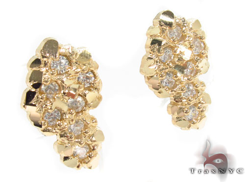 CZ 10K Gold Earrings 34181 Metal