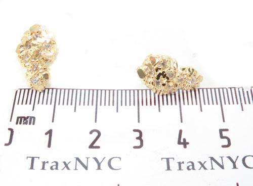 CZ 10K Gold Earrings 34182 Metal
