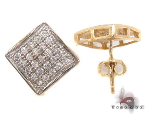 CZ 10K Gold Earrings 34231 Metal