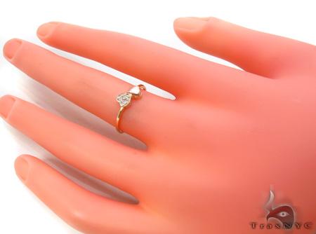 CZ 10K Gold Heart Ring 33578 Anniversary/Fashion