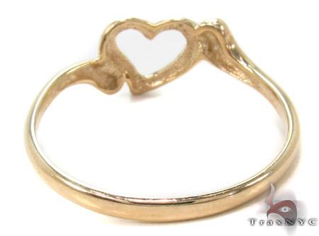 CZ 10K Gold Heart Ring 33585 Anniversary/Fashion