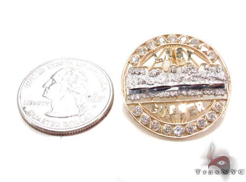 CZ 10K Gold Last Supper Earrings 34166 Metal