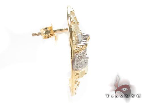 CZ 10K Gold Last Supper Earrings 34168 Metal
