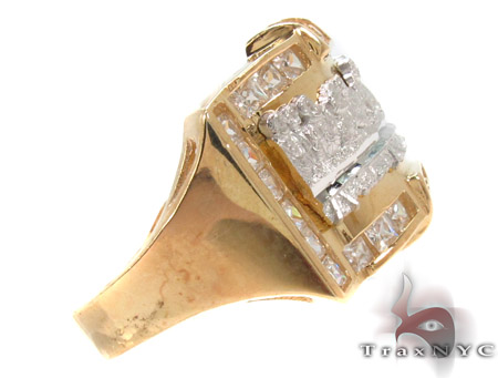 CZ 10K Gold Last Supper Ring 33255 Metal