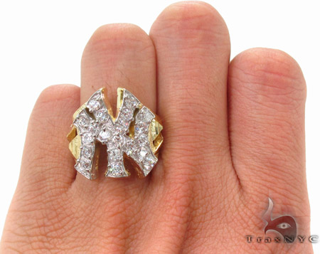CZ 10K Gold NY Ring 33218 Metal