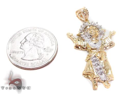 CZ 10K Gold Pendant 34116 Metal