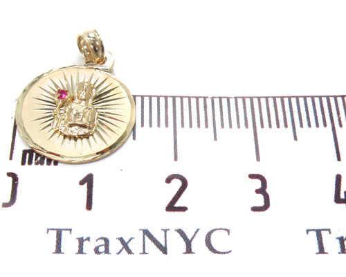 CZ 10K Gold Pendant 34757 Metal