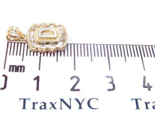 CZ 10K Gold Letter D Pendant Metal