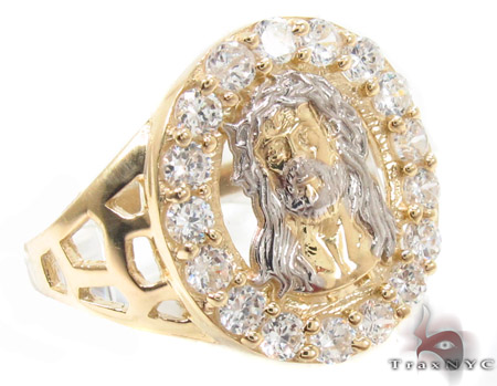 CZ 10K Gold Ring 33212 Mens Gold Rings