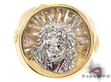 CZ 10K Gold Ring 33249 Metal