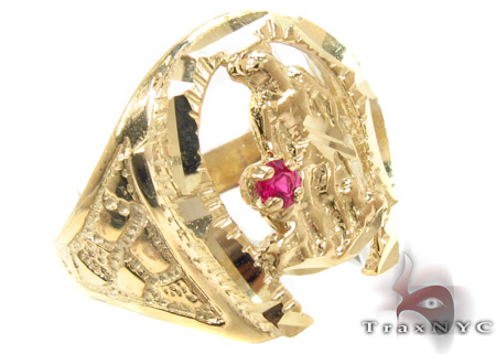 CZ 10K Gold Ring 33261 Mens Gold Rings