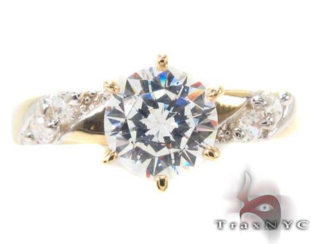 CZ 10K Gold Ring 33595 Anniversary/Fashion