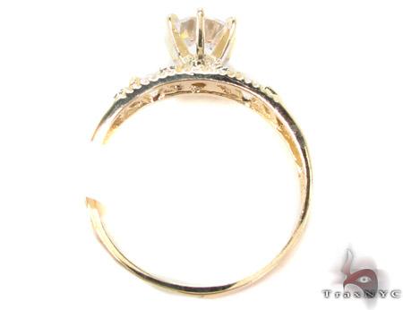 CZ 10K Gold Ring 33598 Anniversary/Fashion