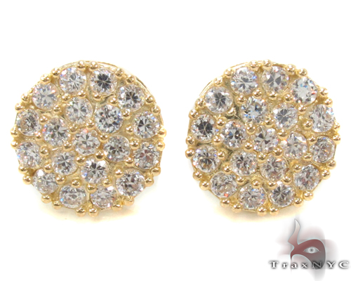 CZ 10K Gold Earrings 34220 Metal