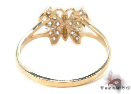 CZ 10k Gold Butterfly Ring 33547 Anniversary/Fashion