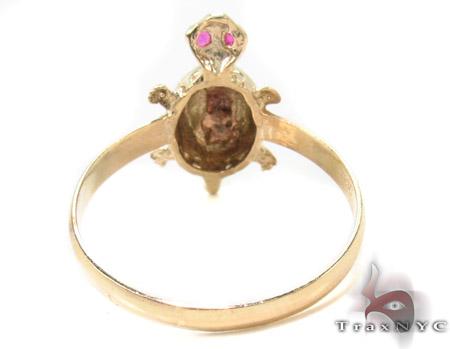 CZ 10k Gold Turtle Ring 33544 Anniversary/Fashion
