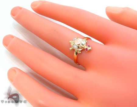 CZ 10k Gold Turtle Ring 33544 Anniversary/Fashion
