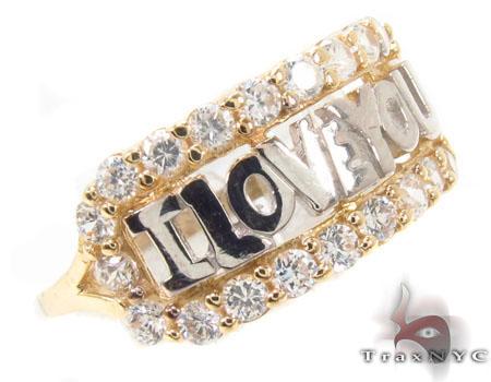 CZ 10k Gold I Love You Ring 33528 Anniversary/Fashion