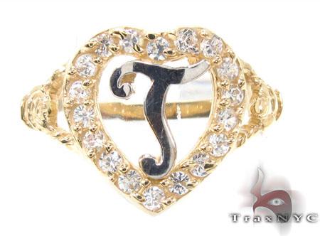 CZ 10k Gold T Ring 33508 Anniversary/Fashion