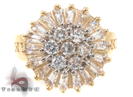 CZ 10k Gold Ring 33344 Anniversary/Fashion