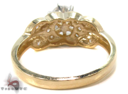 CZ 10k Gold Ring 33354 Anniversary/Fashion