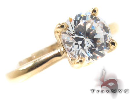 CZ 10k Gold Ring 33362 Anniversary/Fashion